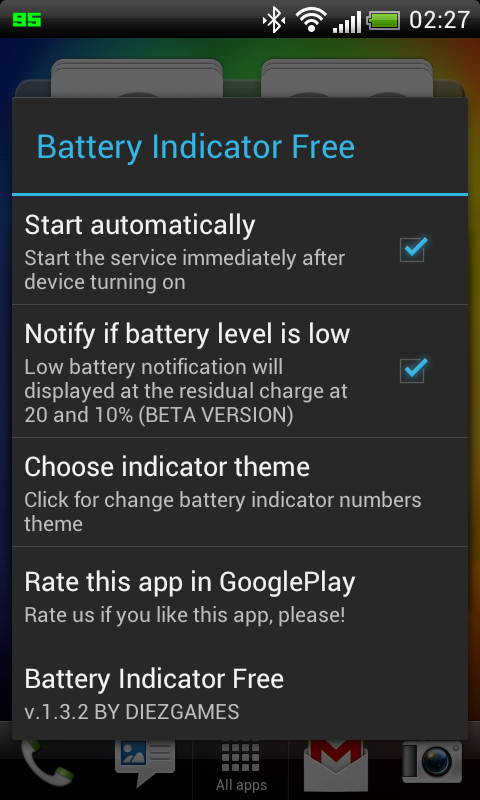 Windows 8 1 Change Battery Charge Level : Battery indicator free android apps on google play