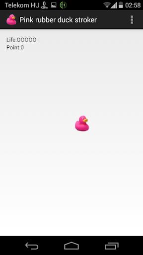 Pink rubber duck stroker