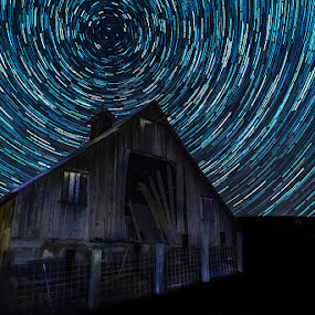 A whirl around the barn.  by George Herbert - Buildings & Architecture Other Exteriors