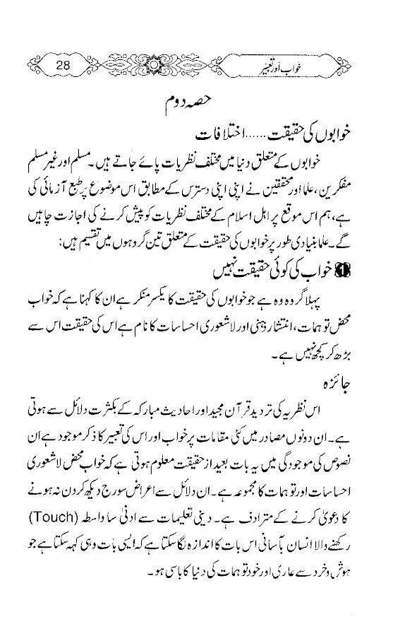 Khawab aur tabeer in urdu - screenshot