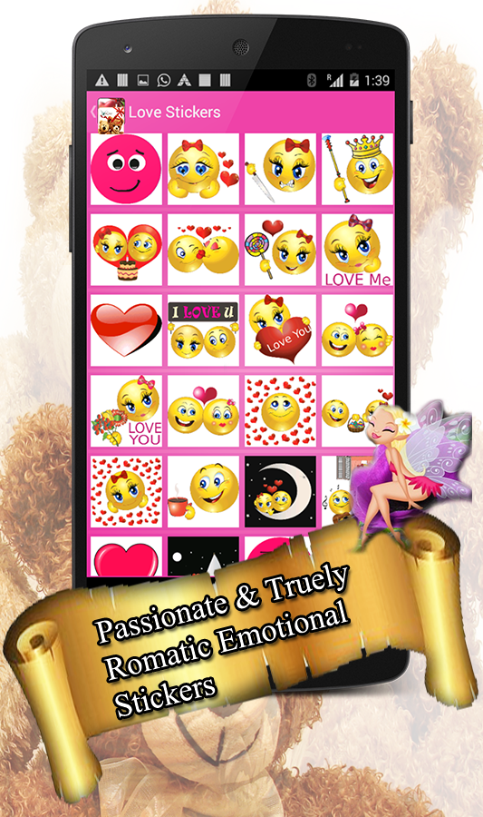 love chat stickers love emoji stickers android apps on. Black Bedroom Furniture Sets. Home Design Ideas