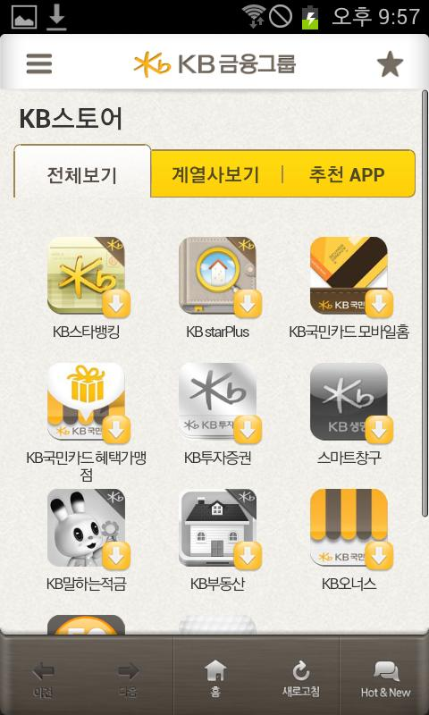 KB금융그룹 - screenshot