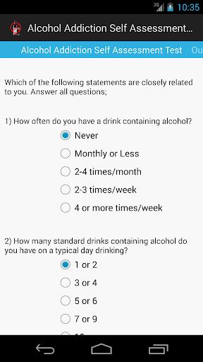 Alcohol Addiction Self Test