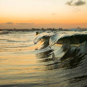 Twin Tales by Cameron Watts - Landscapes Waterscapes ( water, sand, waterscape, peak, neach, sea, ocean, seascape, beach, beauty, landscape, dusk, coast, naural, sun, twin, nature, sunset, wave, surf, light, , Beach, blue, ocean.  )
