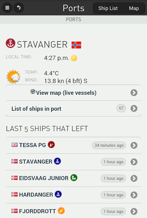 FleetMon mobile - live ships - screenshot