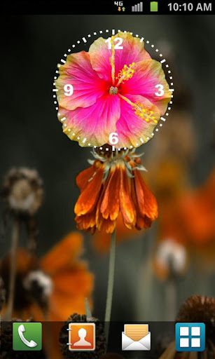 Hibiscus Clock