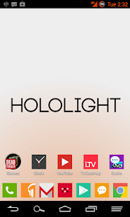 HOLO LIGHT ORANGE CM THEME - screenshot thumbnail