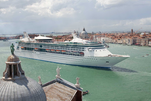 Grandeur-of-the-Seas-Venice-Italy - Grandeur of the Seas sails through Venice, Italy. The ship now cruises in and around New England and the Caribbean.