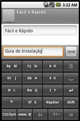 Phonic Keyboard Portuguese - screenshot