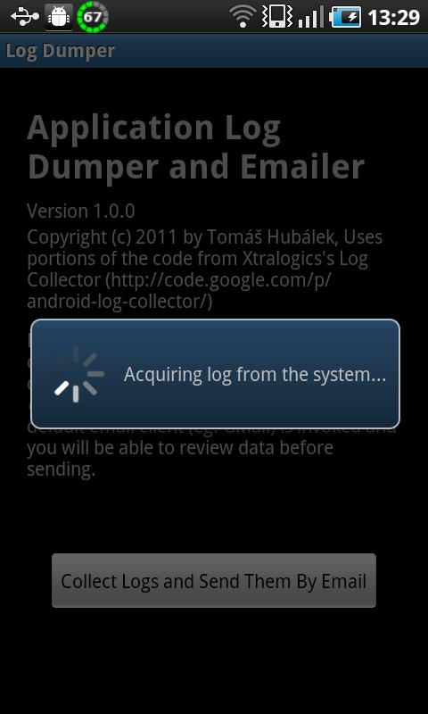 Log Dumper and Emailer - screenshot