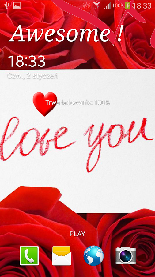 I Love You Live Wallpaper - screenshot