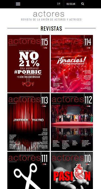 Actores Revista- screenshot