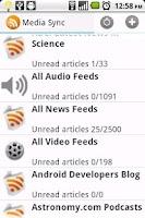 Screenshot of Media Sync