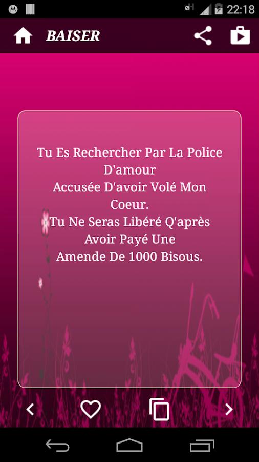 description sms d amour sms d amour drôle sms romantique sms coeur ...