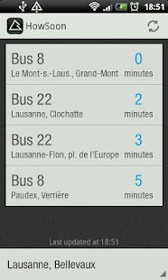 HowSoon:Swiss Public Transport - screenshot thumbnail