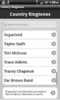 Screenshot of Country Ringtones