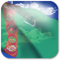 3D Turkmenistan Flag icon