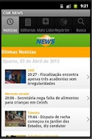 Screenshot of Noticias