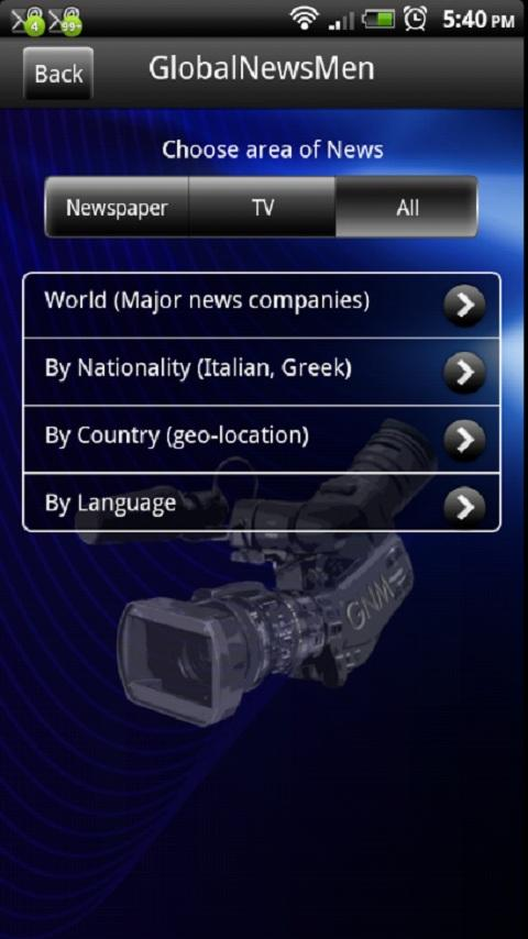 GlobalNewsMen - screenshot