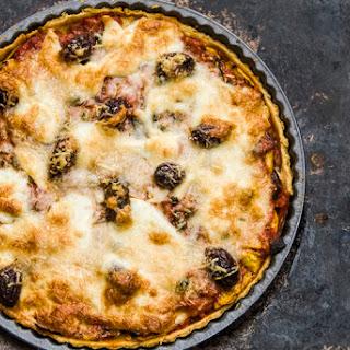 Zucchini, Aubergine And Tomato Tart