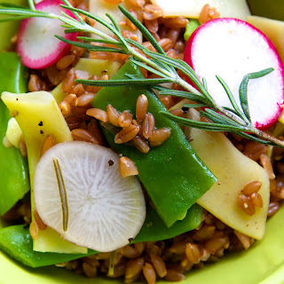 Farro Salad with Summer Beans, Radishes & Rosemary Oil