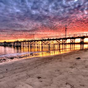 Sometimes... by Brandon Chapman - Landscapes Sunsets & Sunrises ( clouds, color, sunset, goleta beach,  )
