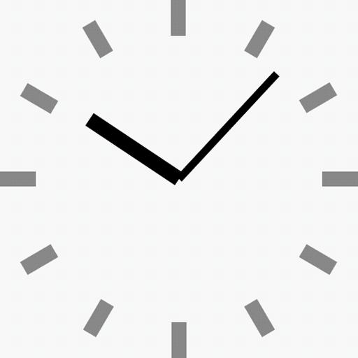 シンプル時計壁紙(白) LOGO-APP點子