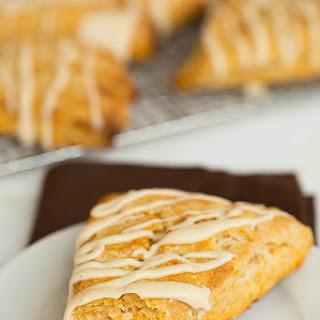 Sweet Potato Scones with Maple Cream Glaze