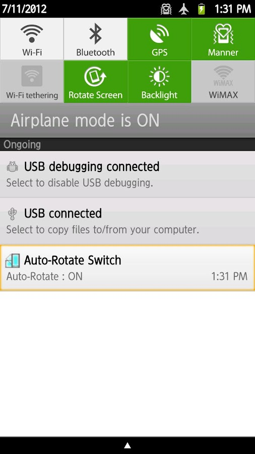 Auto-Rotate Switch - screenshot