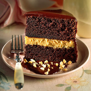 Chocolate-Peanut Butter Mousse Cake.