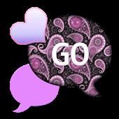 GO SMS THEME/PurplePaisley4U