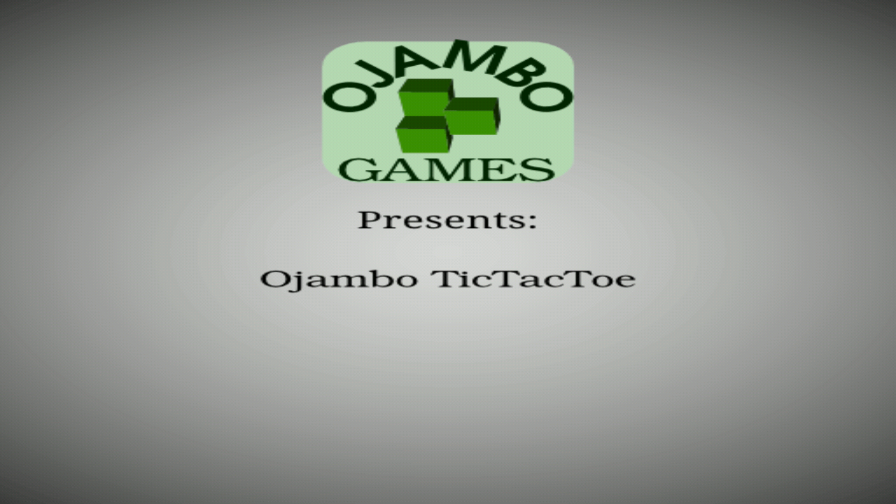 Ojambo Tic Tac Toe Game- screenshot