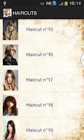 Screenshot of Haircut Catalog 2015