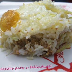 Portuguese Alheira Garlic Sausages and Spring Cabbage Pie