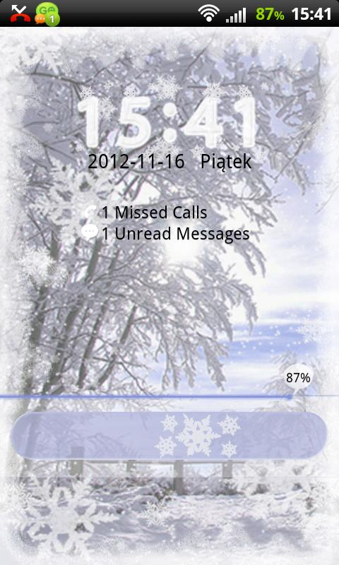 GO Locker Winter Theme - screenshot