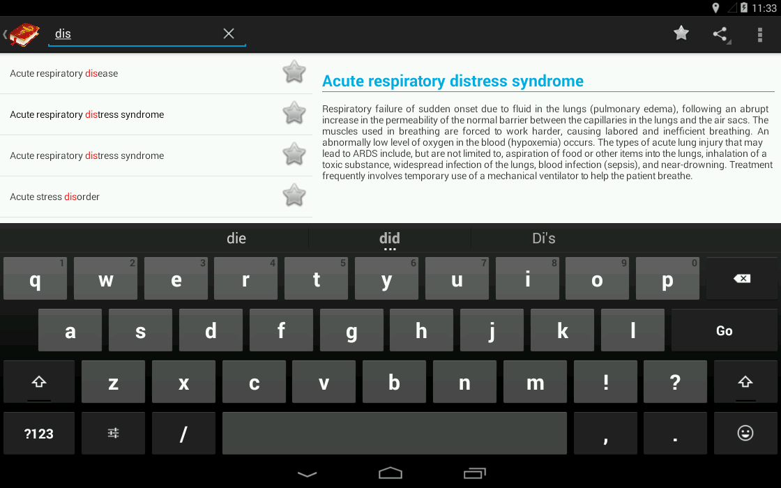 Medical Terminology (OFFLINE)- screenshot