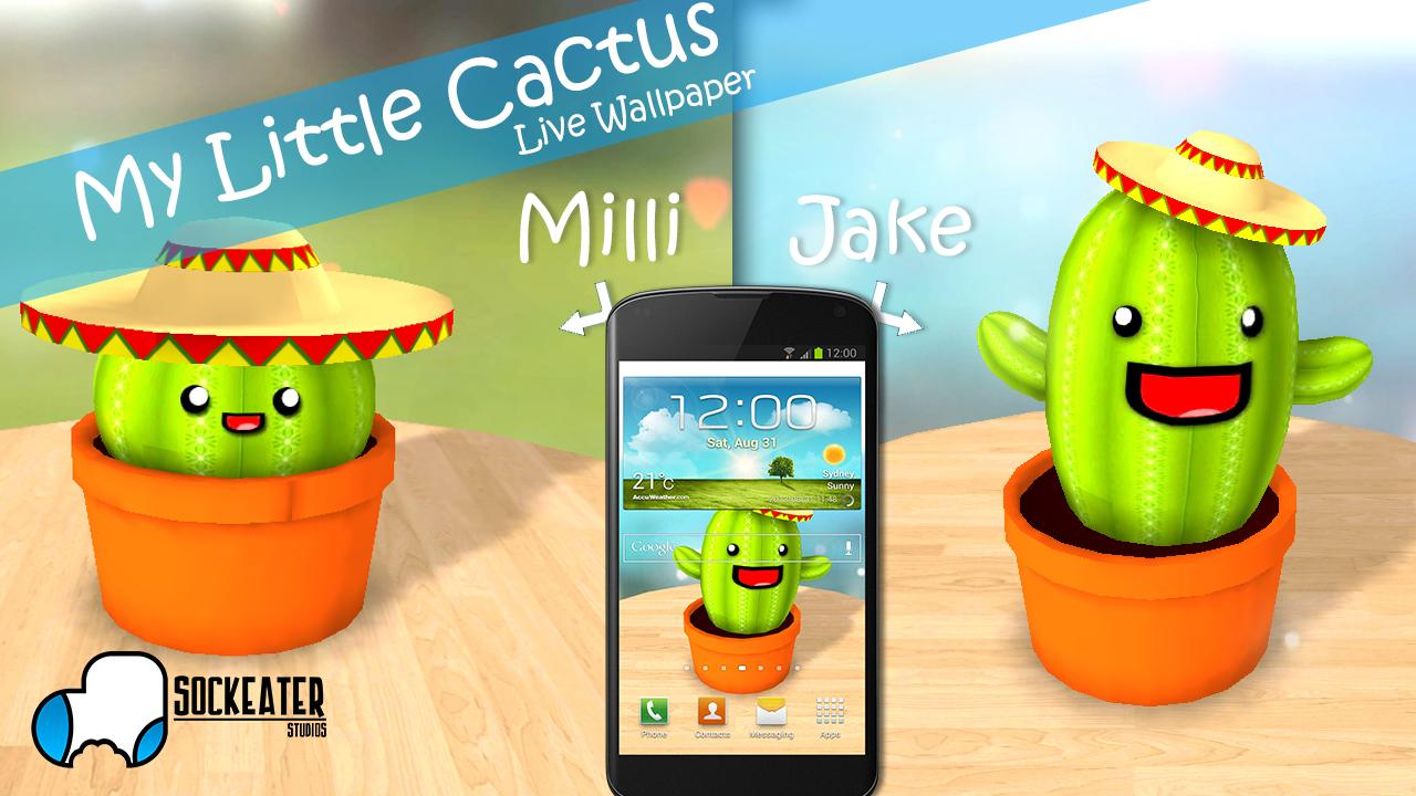 My Little Cactus LiveWallpaper - screenshot