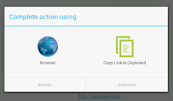 Screenshot of Copy Link to Clipboard