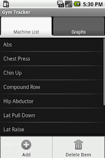 Gym Tracker- screenshot thumbnail