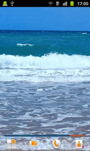 沙灘上的動態壁紙