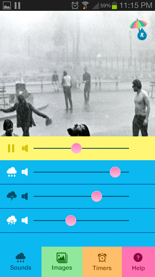 Raining.fm - Rain Sounds - screenshot