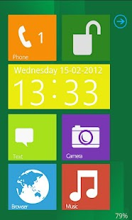 Windows 8 lockscreen Go Locker - screenshot thumbnail