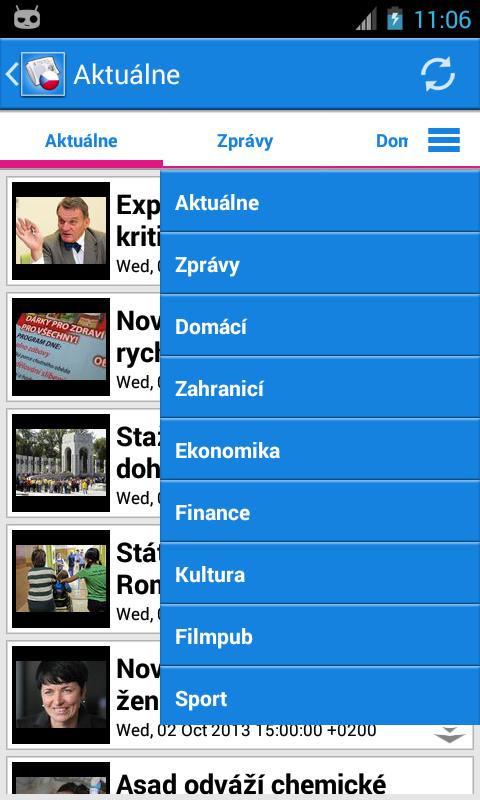Česko Zprávy- screenshot