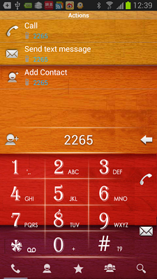 RocketDial Wood2nd Theme - screenshot