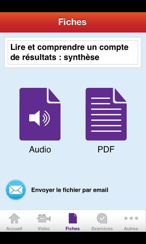 Le compte de résultats.- screenshot