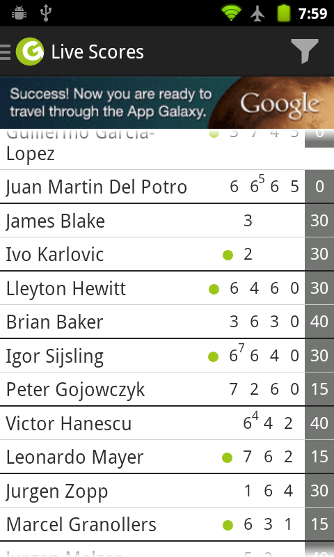 Wimbledon Tennis Scores + Game- screenshot