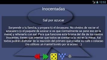 Screenshot of Bromas e inocentadas