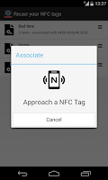 Screenshot of NFC Tools Plugin : Reuse Tag