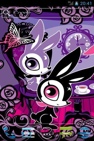 Skip bunny Tea Time Livewallpa