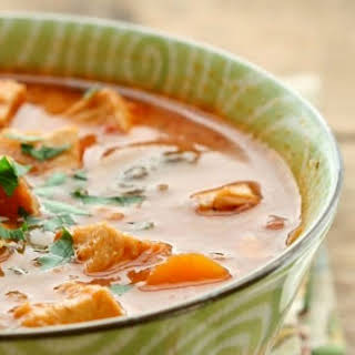 Creamy Chicken, Tomato and Vegetable Soup.